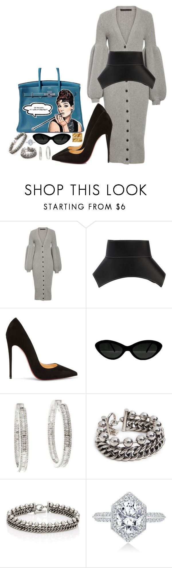 """""""Untitled #1646"""" by thestylewalker ❤ liked on Polyvore featuring Alexander Wang, Loewe and Christian Louboutin"""