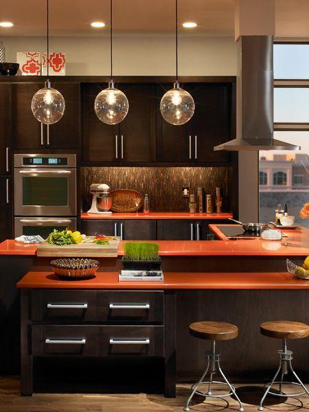 17 best ideas about orange kitchen on pinterest orange for Brown and orange kitchen ideas