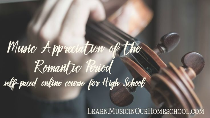 "Adding music to your homeschool can be easy with ""Music In Our Homeschool"" Their newest online class is 40% off today and tomorrow, then 25% off.  ""Music Appreciation for the Romantic Period"" * 36 Lessons about styles and composers the 1800s * Suitable for full credit in High School Music Appreciation * Can be used with any students K-12 * Perfect for independent learning, group learning at home, or at a co-op * Lessons, Videos, Printables, and Online Quizzes included"
