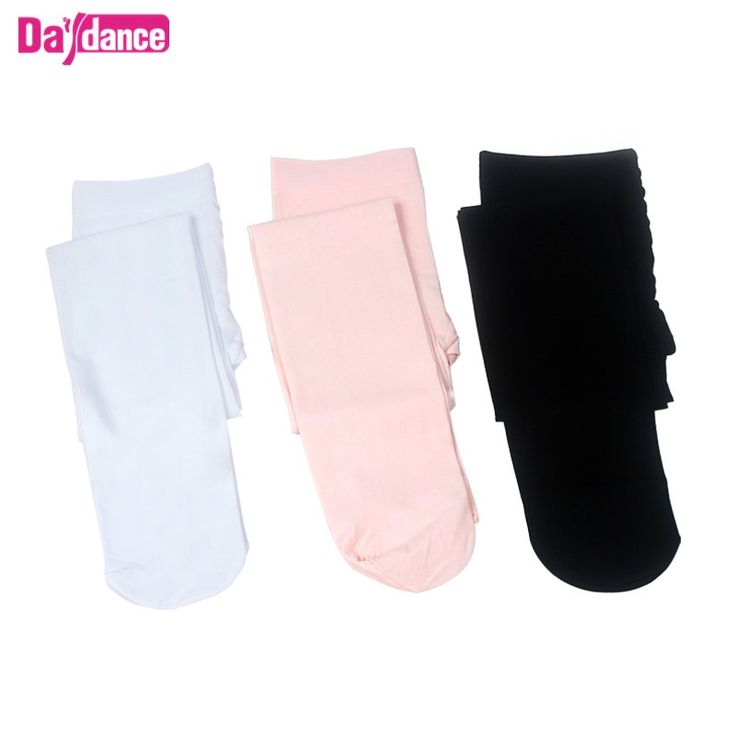 90D Professional Girls Ballet Tights Microfiber Velvet White Black Pink Dance Pantyhose With Gusset