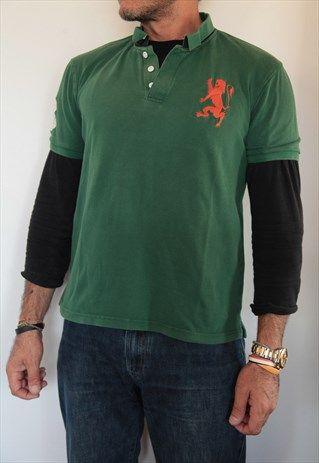 GIORDANO GREEN POLO SHIRT. SIZE L