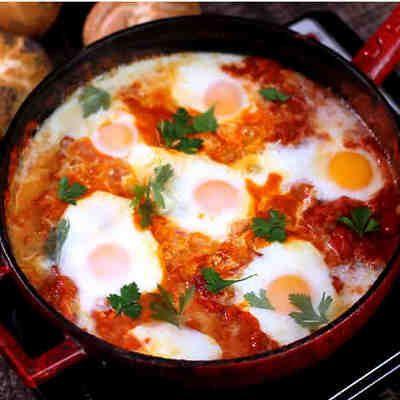 Shakshuka #huevos #cena #receta