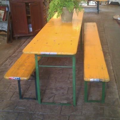 German Beer Garden Table  Perfect for a party at the beach or a gathering in. 33 best Beer Garden Furniture images on Pinterest