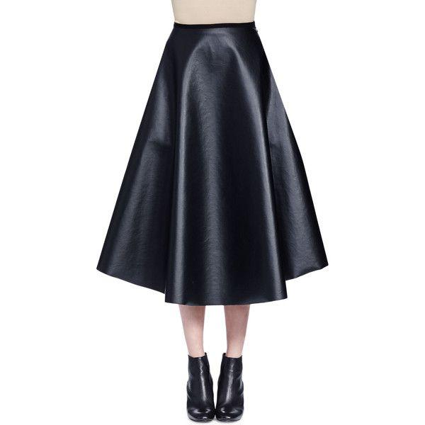 1000 ideas about leather midi skirt on