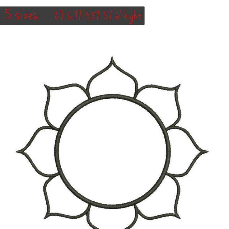 Om sign, aum symbol border circle  embroidery design Monogram Frame Machine pattern digital download by GretaembroideryShop on Etsy