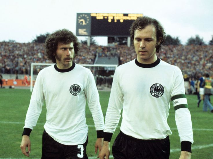 Paul Breitner and Franz Beckenbauer (East Germany 1-0 West Germany - 1974 FIFA World Cup Group 1 - 22/06/1974).