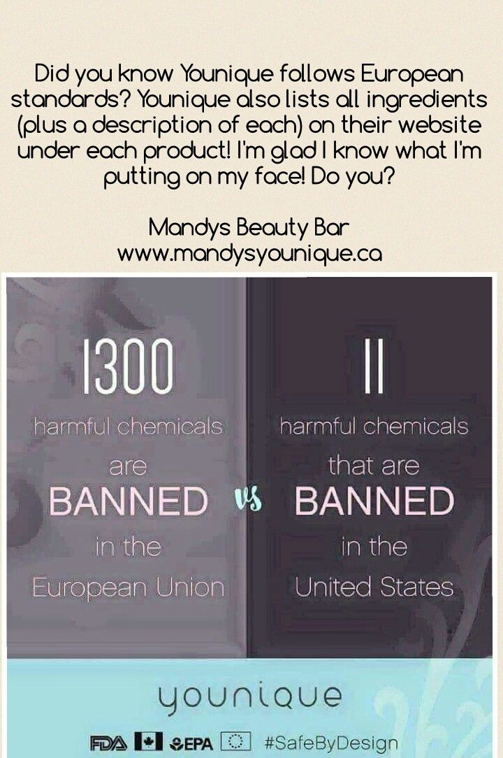 Ingredients in Europe vs the USA, and where Younique stands. Know what your putting on your skin. It makes a difference.