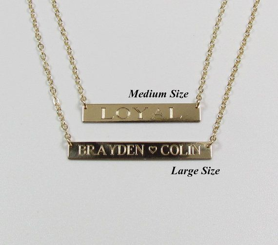 Roman Numeral name plate.  Similar style see on the Kardashians.   This necklace comes engraved with your roman numeral date,  name or special word.  Please leave me the traditional date in this format  MM.DD.YYYY and I will convert it to roman numerals for you.   EX:  11.22.1999 will be converted to XI.XXII.MCMXCIX     **PLEASE NOTE:  Standard printing is for FRONT side only.  BACKSIDE Printing is an additional charge.  you may choose this option from the drop down box.   ✥ The entire…