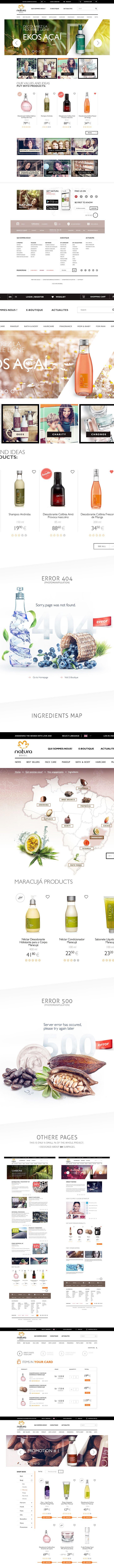 Natura Brasil Website & Shop