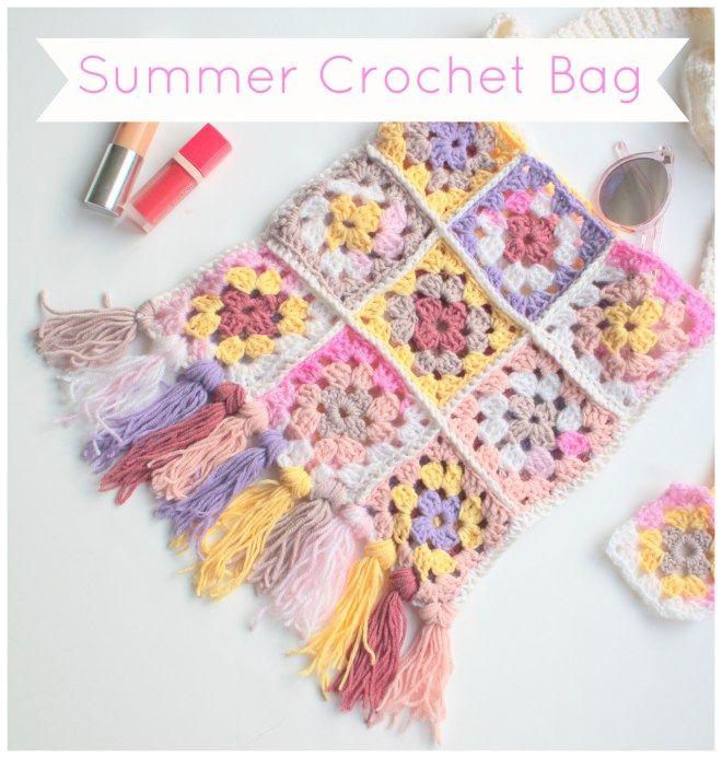 Summer Crochet Bag - Free Crochet Pattern - (littlebuttondiaries)