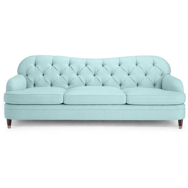 Kate Spade Drake Tufted Sofa ($5,950) ❤ Liked On Polyvore Featuring Home,  Furniture