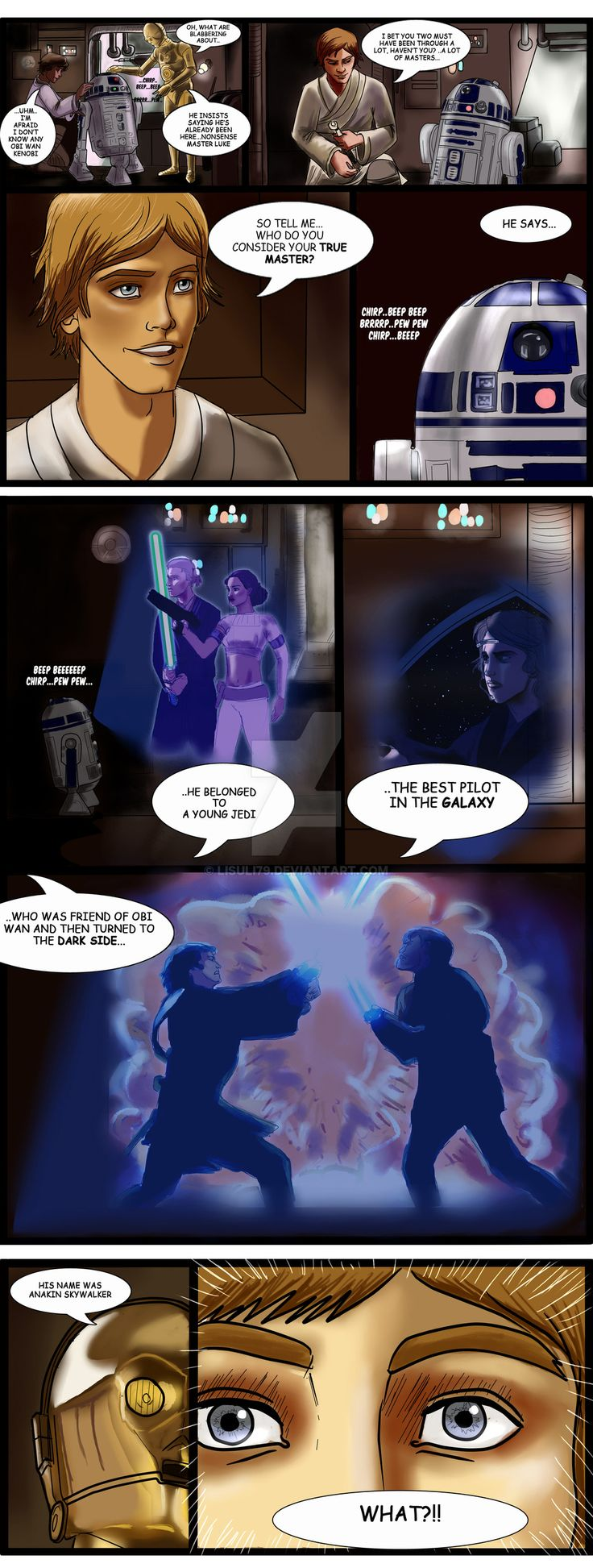The very basic question: a New Hope AU - Star Wars by lisuli79 on DeviantArt