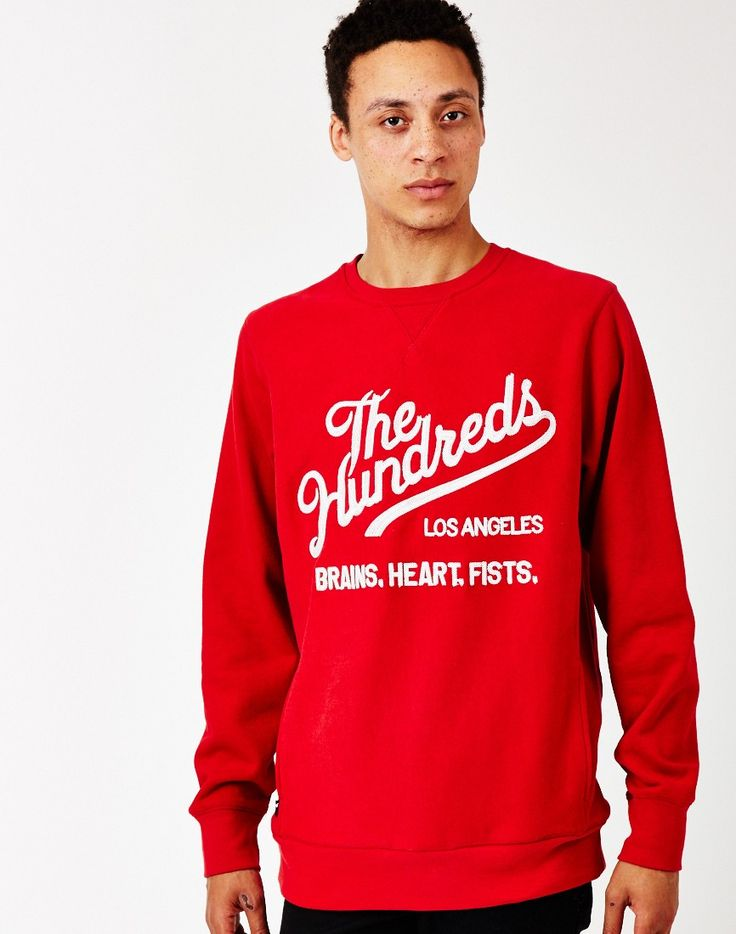 The Hundreds Tradition Crew Neck Sweatshirt in Red | The Idle Man | #StyleMadeEasy