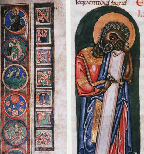 Belgium, 1084 - Why the dark skinned saints?  Fantasy or based in historical fact?