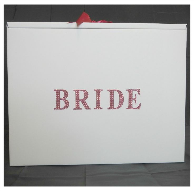 Pink Diamante Bride Stunning Wedding Dress Travel Box