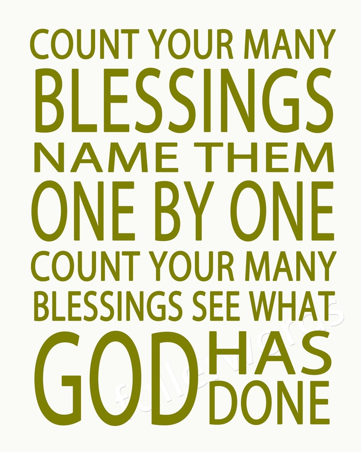 Quotes About Counting Your Blessings: Count Your Blessings -hymn Lyrics