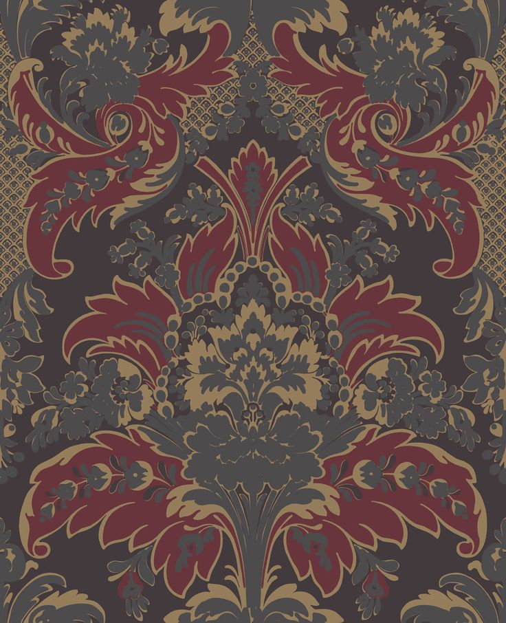 Aldwych Red / Gold wallpaper by Cole & Son