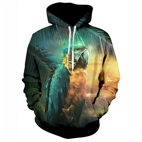 Parrot Hoodie  3D Printed Clothing/Accessories. FREE Shipping Worldwide!