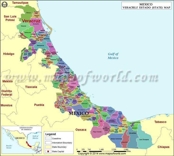 Veracruz Map, Veracruz Mexico