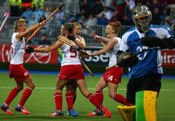 Lily Owsley Photos Photos - Lily Owsley of England celebrates after she scored a goal during the Women's Gold Medal Match betwen Australia and England at Glasgow National Hockey Centre during day ten of the Glasgow 2014 Commonwealth Games on August 2, 2014 in Glasgow, Scotland. - 20th Commonwealth Games: Hockey