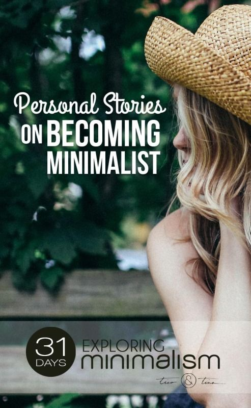 It's easy to read about the minimalist lifestyle and think, yeah, that's great…