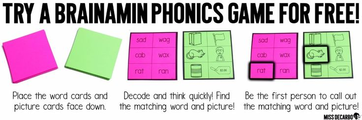 YAY! Here's a FREE phonics game!