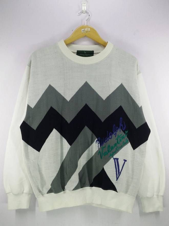 1667f113e1 Rudolph Valentino Spell Out Knitwear Sweatshirt Jumper Pullover Size Large Size  US L   EU 52-54   3