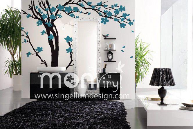 Vinilo arbol brasile o vinilos decorativos vinilos for Decoracion paredes vinilos adhesivos