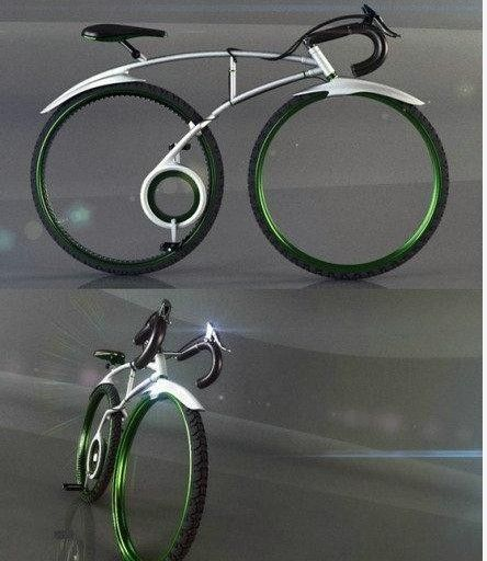 Creative folding bike design without chain