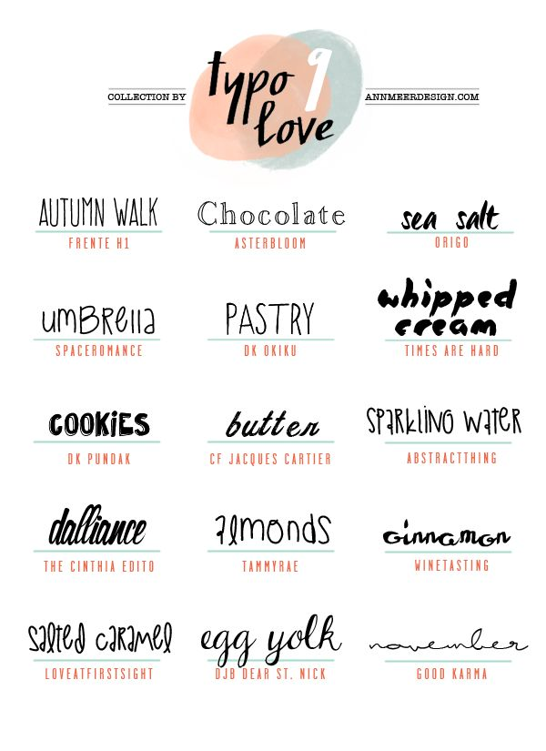 Ann.Meer by Anna-Maria Dahms: Lovely Fonts #9