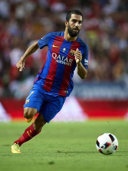 Arda Turan of FC Barcelona in action during the match between Sevilla FC vs FC…