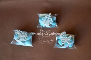 baby christining favor - baby calk