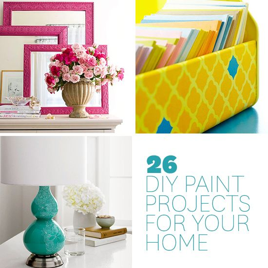 Give your home a personal touch or update your decor with one of these DIY paint projects: http://www.bhg.com/decorating/paint/projects/paint-projects-ideas-and-patterns/?socsrc=bhgpin041714paintprojects