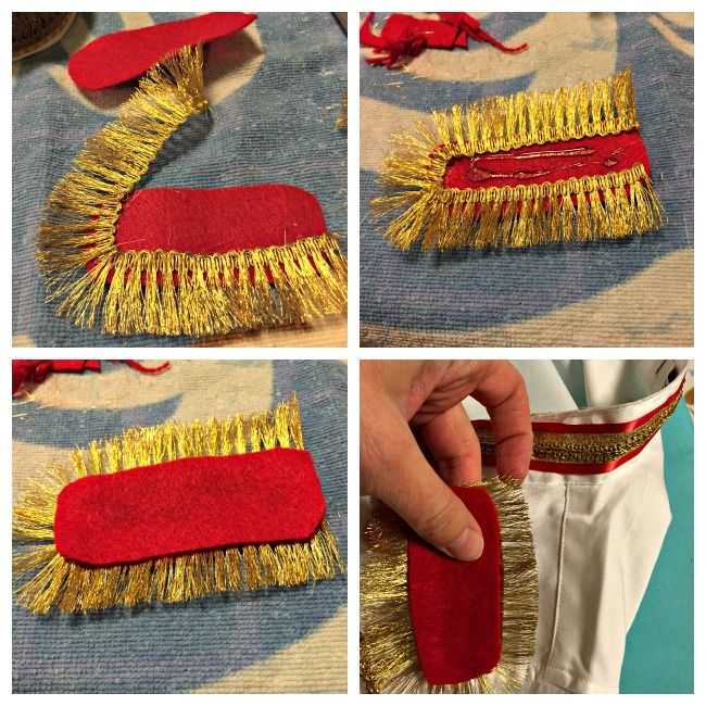 DIY Cinderella's Prince Charming Costume Shoulder Detail -- Omg I would die if Jared did this with me!!!!
