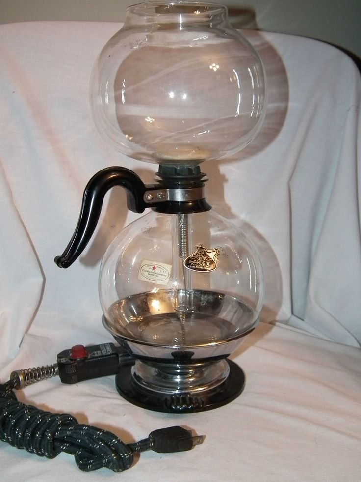 VINTAGE SILEX GLASS VACUUM COFFEE POT MAKER WITH ELECTRIC BURNER Love it!!! Pinterest ...