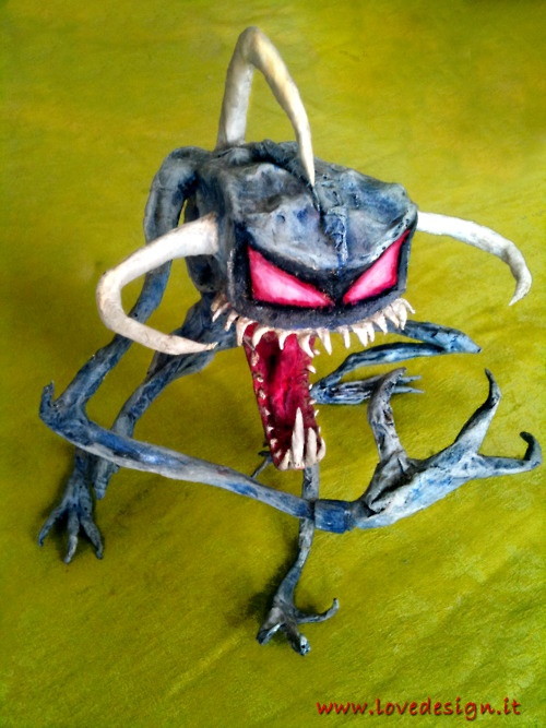 The Violator from Spawn comics by Todd McFarlane.    Hand made with Papier-mâché bu Emanuele Bertuccelli