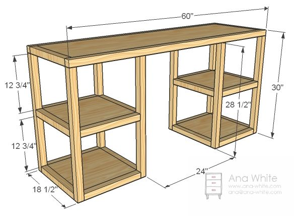 computer table designs for office. ana white build a parson tower desk free and easy diy project furniture computer table designs for office