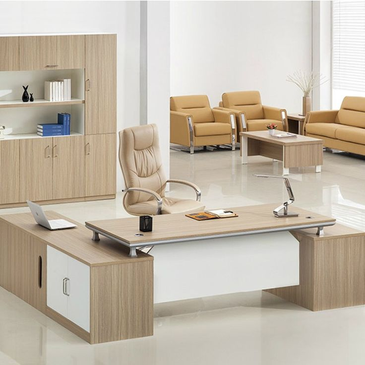 Professional manufacturer desktop wooden office table for Director office room design