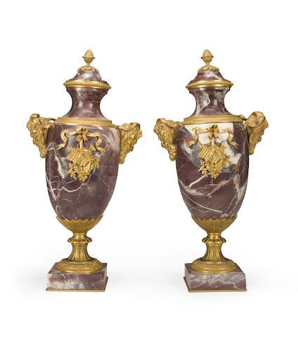 A pair of Continental Neoclassical style gilt bron…