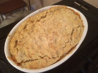Crumble for the autumn oven.