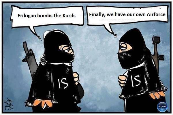 SYRIA and IRAQ NEWS: #Kobane #Cizire Update 119 - YPG/FSA Win Again, Capturing #Sarrin, While Turkey Goes to Attack Everybody. *For More #Iraq and #Syria News ...* http://www.petercliffordonline.com/syria-iraq-news-5 PIC: A Cynical View of Turkey's Convoluted Relationship With IS: