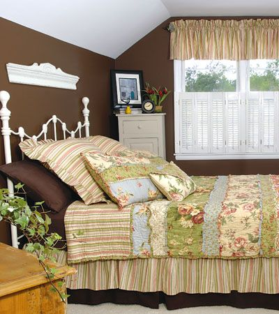 Create a cozy retreat by painting bedroom walls chocolate for Chocolate brown bedroom furniture
