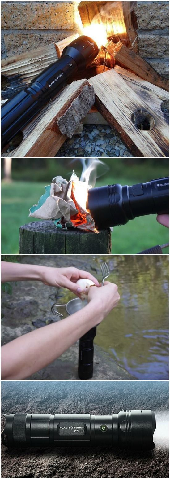 The FlashTorch Mini is the world's smallest 2300 lumens flashlight that can be used to guide your way home, light a fire, or even fry an egg!