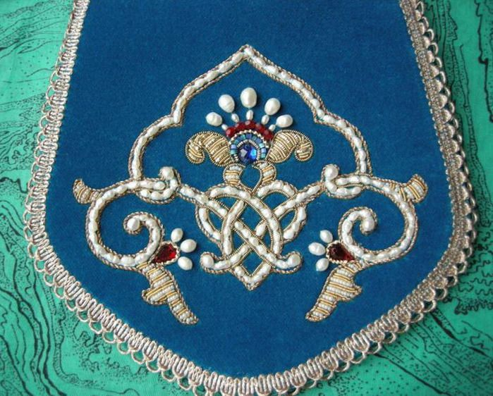 Russian embroidery  bead work.