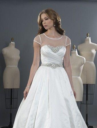 abiti da sposa da sposa in raso epoca