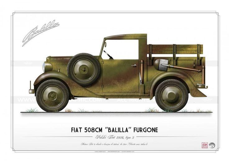 "FIAT 508CM ""Balilla"" Furgone KP-004"