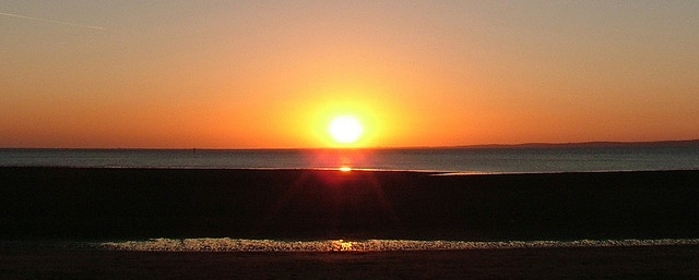 Sunset, Morecambe Bay by beanphoto, via Flickr