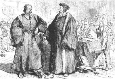 Calvino y Servet ante el tribunal de Ginebra