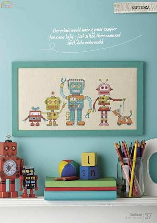 Robo Pals CrossStitcher  Issue 288 February 2015 Zinio Saved