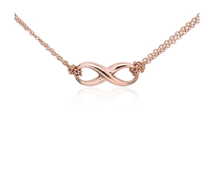 Infinity Necklace in Rose Gold Vermeil #BlueNile #MothersDay #jewelry